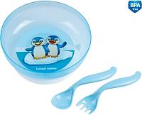 Набор детской посуды Canpol 21/300 (голубой) -