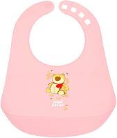 Нагрудник детский Canpol 12+ 2/404 (розовый) -
