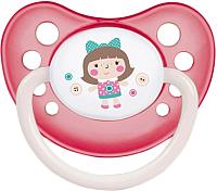 Пустышка Canpol Toys латексная анатомическая 0-6мес / 23/259 (розовый, со светящимся колечком) -