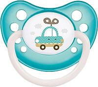 Пустышка Canpol Toys латексная анатомическая 0-6мес / 23/259 (голубой, со светящимся колечком) -