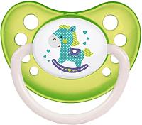 Пустышка Canpol Toys латексная анатомическая 6-18мес / 23/260 (салатовый,со светящимся колечком) -