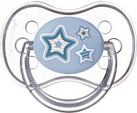 Пустышка Canpol Newborn Baby силиконовая круглая 0-6мес / 22/562 (голубой) -