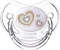 Пустышка Canpol Newborn Baby силиконовая анатомическая 6-18мес / 22/566 (бежевый) -