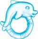 Прорезыватель для зубов Canpol Дельфин / 2/221 (голубой) -