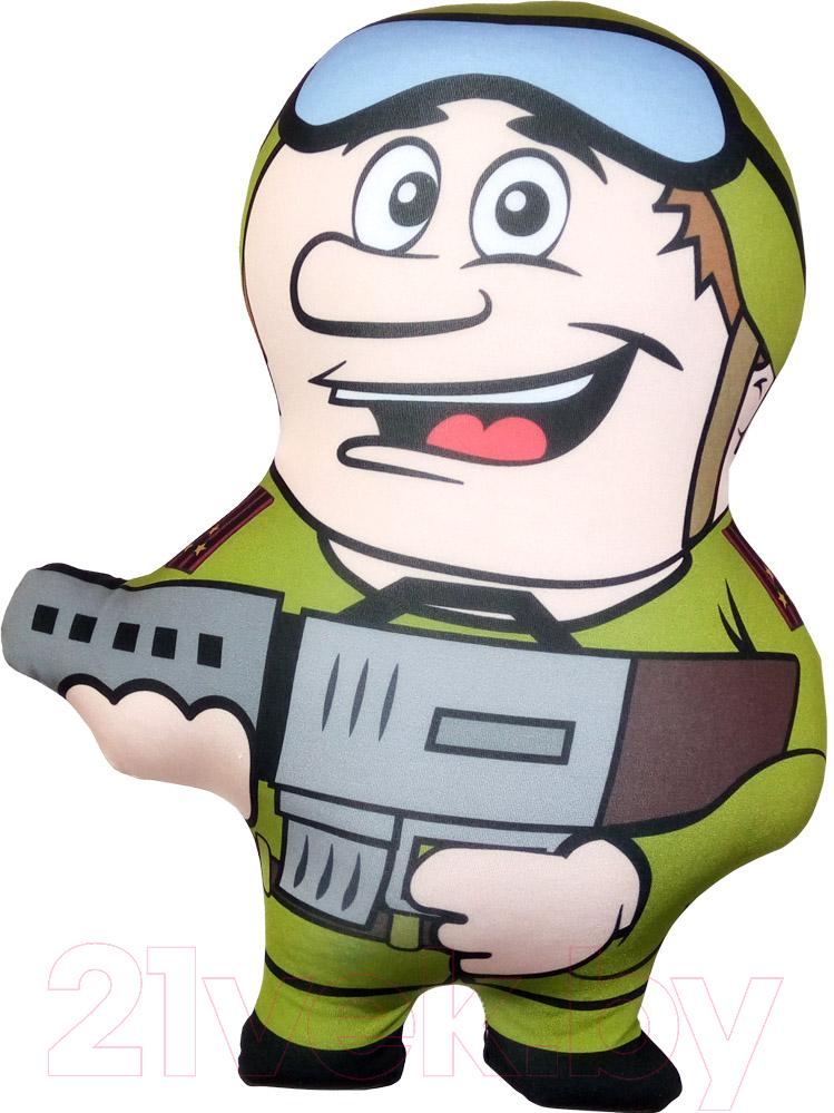 Купить Мягкая игрушка Мнушки, Солдат с автоматом / T3526C1711A049GR, Россия, серый, полиэстер