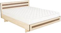 Полуторная кровать Барро М2 КР-017.11.02-18 140x190 (дуб девон) -