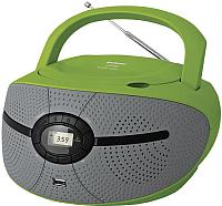 Магнитола BBK BX195U (зеленый/серый) -