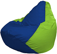 Бескаркасное кресло Flagman Груша Мега Г3.1-119 (синий/салатовый) -