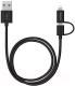 Кабель Deppa 2 в 1: 8-pin + micro USB / 72204 (черный) -