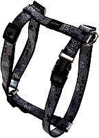 Шлея Rogz Lapz Trendy Tuigje Black Bones XS 8мм / RSJ520A -