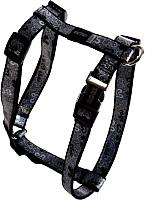 Шлея Rogz Lapz Trendy Tuigje Black Bones S 11мм / RSJ521A -