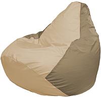 Бескаркасное кресло Flagman Груша Мега Г3.1-136 (светло-бежевый/темно-бежевый) -