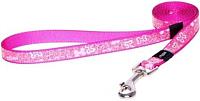 Поводок Rogz Lapz Trendy Lijn Lang Pink Bones XS 8мм / RHLL520K -