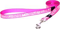 Поводок Rogz Lapz Trendy Lijn Lang Pink Bones S 11мм / RHLL521K -