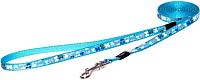 Поводок Rogz Lapz Trendy Lijn Lang Blue Bones XS 8мм / RHLL520B -