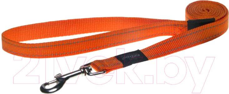 Поводок Rogz, Snake Lijn 16mm / RHL11D (оранжевый), Юар, нейлон  - купить со скидкой