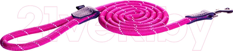 Купить Поводок Rogz, Rope Lijn Lang 9мм / RHLLR09K (розовый), Юар, нейлон
