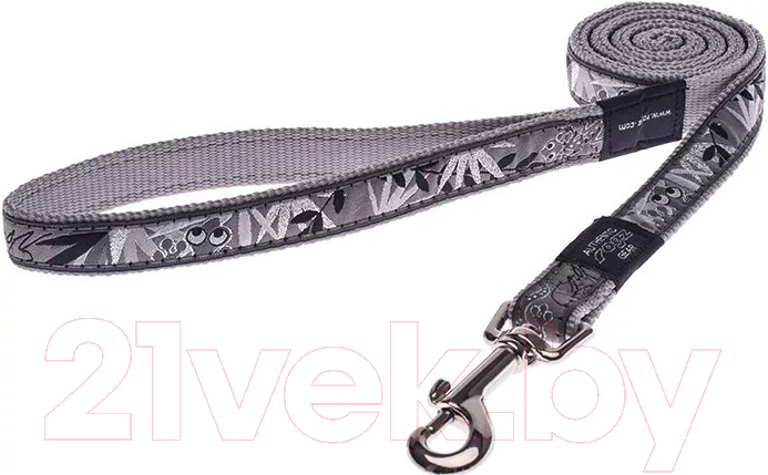 Купить Поводок Rogz, Jelly Lijn Silver Gecko 11мм / RHL01BS, Юар, нейлон