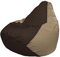 Бескаркасное кресло Flagman Груша Макси Г2.1-330 (коричневый/темно-бежевый) -