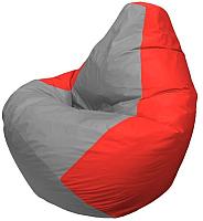 Бескаркасное кресло Flagman Груша Макси Г2.1-332 (серый/красный) -