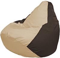 Бескаркасное кресло Flagman Груша Мега Г3.1-146 (светло-бежевый/коричневый) -