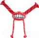 Игрушка для животных Rogz Grinz Flossy Medium / RFGR03C (красный) -