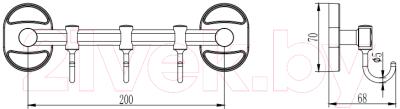Вешалка для ванны Ledeme L3315-3