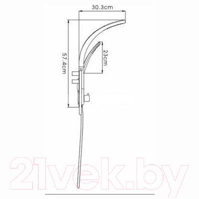 Душевая система Ledeme L2405M