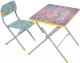 Комплект мебели с детским столом Фея Досуг 201 Алфавит (сиреневый) -