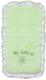 Конверт на выписку FAIRY Белые кудряшки (зеленый) -