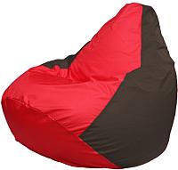 Бескаркасное кресло Flagman Груша Мега Г3.1-177 (красный/коричневый) -