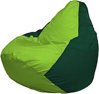 Бескаркасное кресло Flagman Груша Мега Г3.1-185 (салатовый/темно-зеленый) -