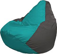 Бескаркасное кресло Flagman Груша Мега Г3.1-287 (бирюзовый/темно-серый) -