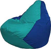 Бескаркасное кресло Flagman Груша Мега Г3.1-291 (бирюзовый/синий) -