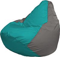 Бескаркасное кресло Flagman Груша Мега Г3.1-292 (бирюзовый/серый) -