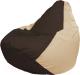 Бескаркасное кресло Flagman Груша Мега Г3.1-326 (коричневый/светло-бежевый) -