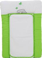Доска пеленальная Polini Kids Зайки (70x50, зеленый) -