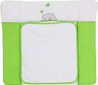 Доска пеленальная Polini Kids Зайки (85x75, зеленый) -