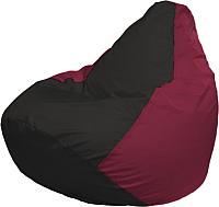 Бескаркасное кресло Flagman Груша Мега Г3.1-394 (черный/бордовый) -