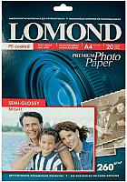 Фотобумага Lomond А4, 260 г/м, 20 л. / 1103301 (полуглянцевая) -