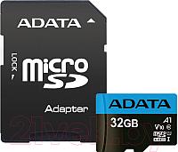 Карта памяти A-data microSDHC UHS-I (Class10) 32GB (AUSDH32GUICL10A1-RA1) -