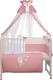 Комплект в кроватку Polini Kids Зайки 7 (120x60, розовый) -