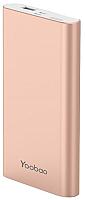 Портативное зарядное устройство Yoobao PL10 (розовое золото) -