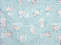 Простыня детская Фея Мишки (на резинке, голубой) -