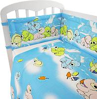 Комплект в кроватку Фея Мишки (голубой) -