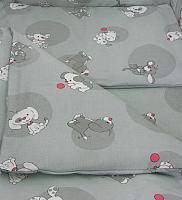 Комплект в кроватку Фея Наши друзья (серый) -