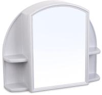 Шкаф с зеркалом для ванной Berossi Орион АС 11804000 (белый мрамор) -