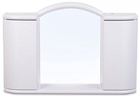 Шкаф с зеркалом для ванной Berossi Арго АС 11904000 (белый мрамор) -