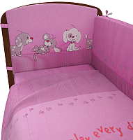 Комплект в кроватку Фея Веселая игра 6 (розовый) -