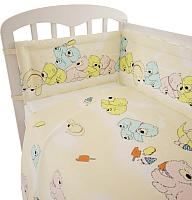 Комплект в кроватку Фея Мишки 6 (желтый) -